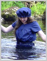 Chastity takes to the water, 1890s style! featuring Chastity, the head gardener